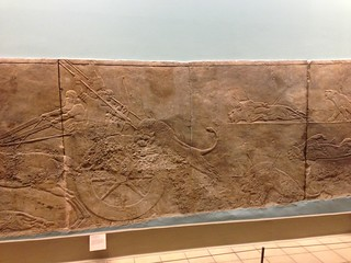 Assyrian Lion Hunt Bas-relief