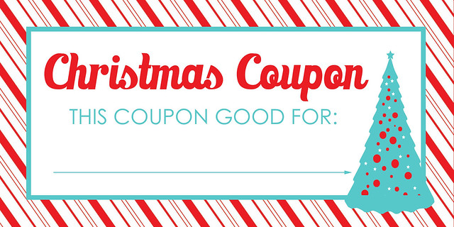 Christmas Coupon Blank