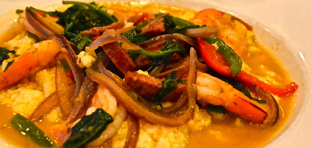 Shrimp and Grits signature Dish plantation inn at crystal river