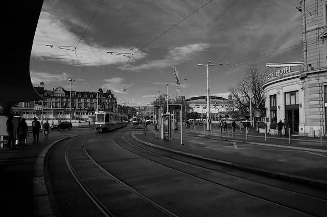 Fermata del tram, Zurigo.