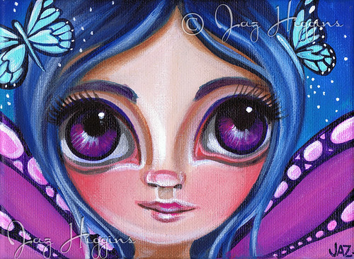 """Little Blue Butterflies"" Painting by Jaz Higgins"