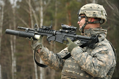 army, soldier, weapon, rifle, machine gun, infantry, firearm, gun, sniper rifle, military, person,
