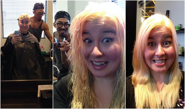Bleaching Hair Collage