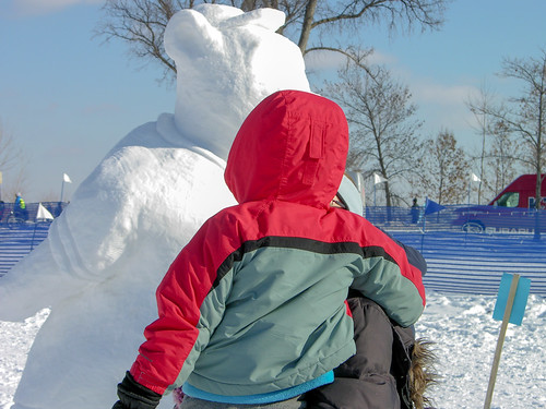 2014 Snow Sculpture Contest bear ball