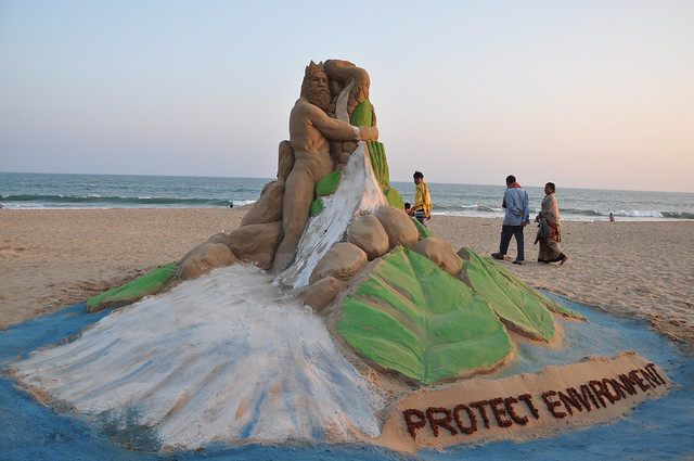 Sandy Awareness campaign on Hindu Environment Week by Manas Kumar Sahoo