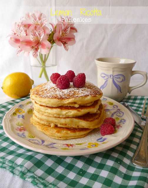 Raspberry Bloom: Lemon Ricotta Pancakes