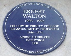 Photo of Ernest Walton blue plaque