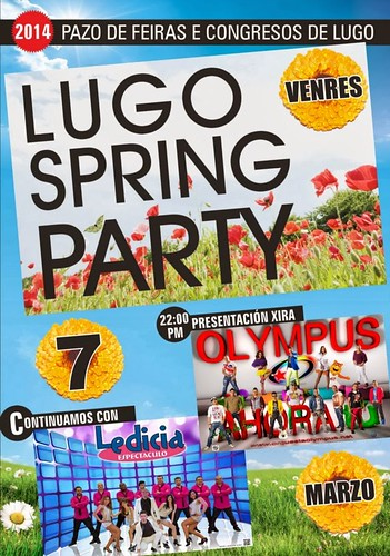 Lugo 2014 - Lugo Spring party - cartel