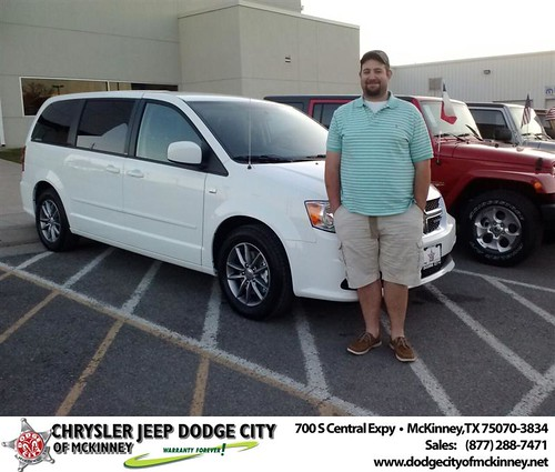 Thank you to Brandon Williams-Cooper on your new 2014 #Dodge #Grand Caravan from Carlos Sisk and everyone at Dodge City of McKinney! #NewCar by Dodge City McKinney Texas