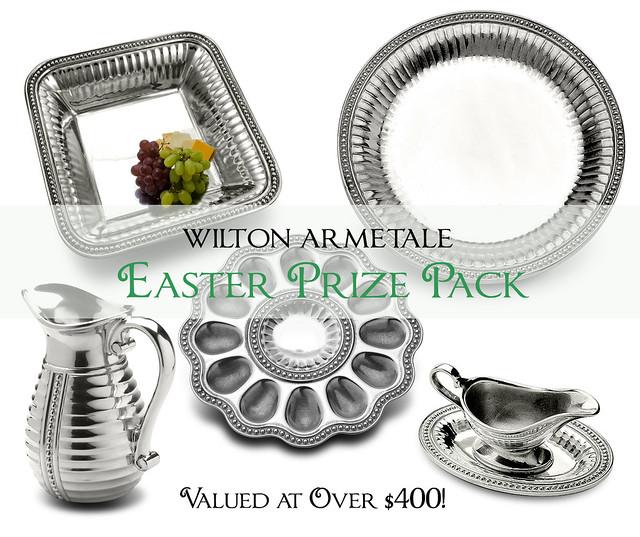 Easter Prize Pack of Metal Serveware - Valued at Over $400!