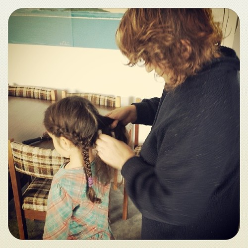 Watching this ritual between them become a tradition is happy-making for me. #100happydays #hairstylesarenotmystrength