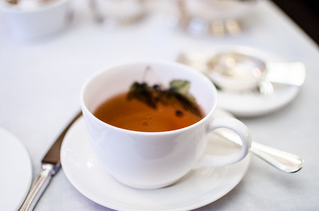 A perfect cup of tea at Brown's Hotel in London, England.