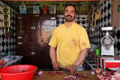 Abderrazzak, o homem da carne