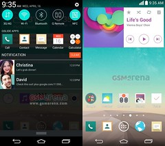 Leaked LG G3 screenshots show flatter UI, Google Now-like features