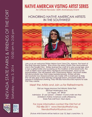 May 3 Native American Visiting Artist Series: Shirley Nelson #nv150