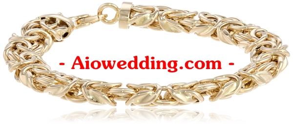 14k Yellow Gold Byzantine Chain Bracelet, 7.75