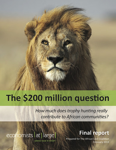 The $200 million question: How much does trophy hunting really contribute to African communities? - Economists at Large (2013) @ecolarge