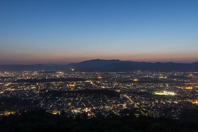 大文字からの夕景