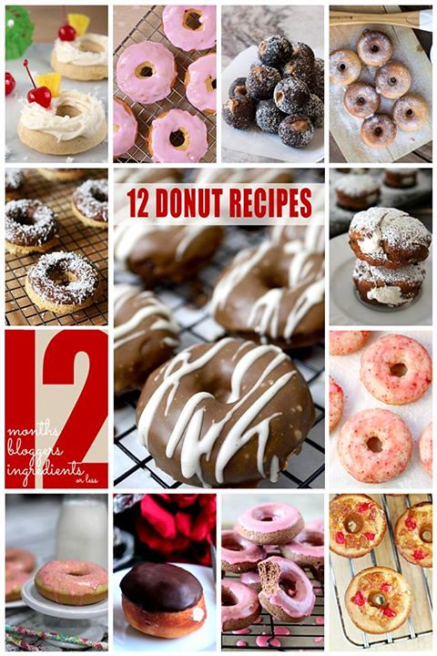 12 Donut Recipes #12bloggers