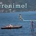 geronimo!  Sunbathers jumping into Lake Como.