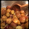 #CucinaDelloZio - #Homemade Roasted Rosemary #Chicken and #Potatoes - toss pots w/ onions garlic EVOO s&p & Rosemary