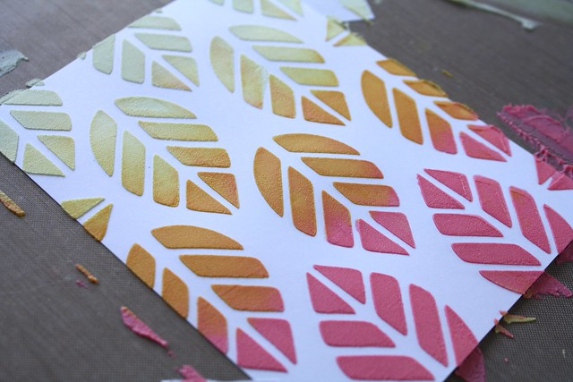 STAMPlorations-Leaf Prints stencil
