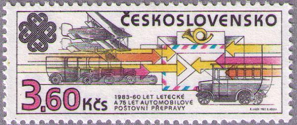2584. Známka Československo 1983 - Výročie poštovej prepravy