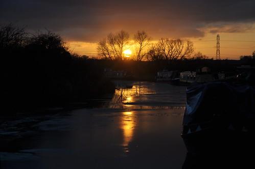 Sunset at Semington