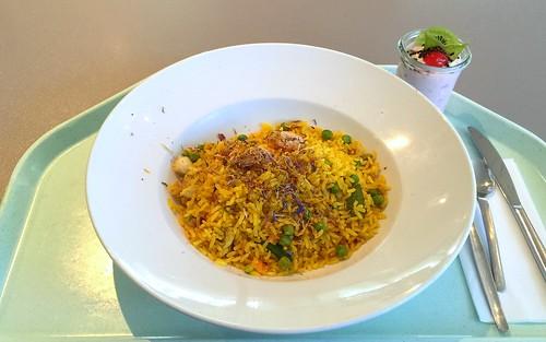 Paella with seafood & chicken / Paella mit Meeresfrüchten & Hähnchenfleisch