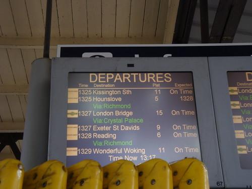 #SWTValentine - Clapham Junction Boards