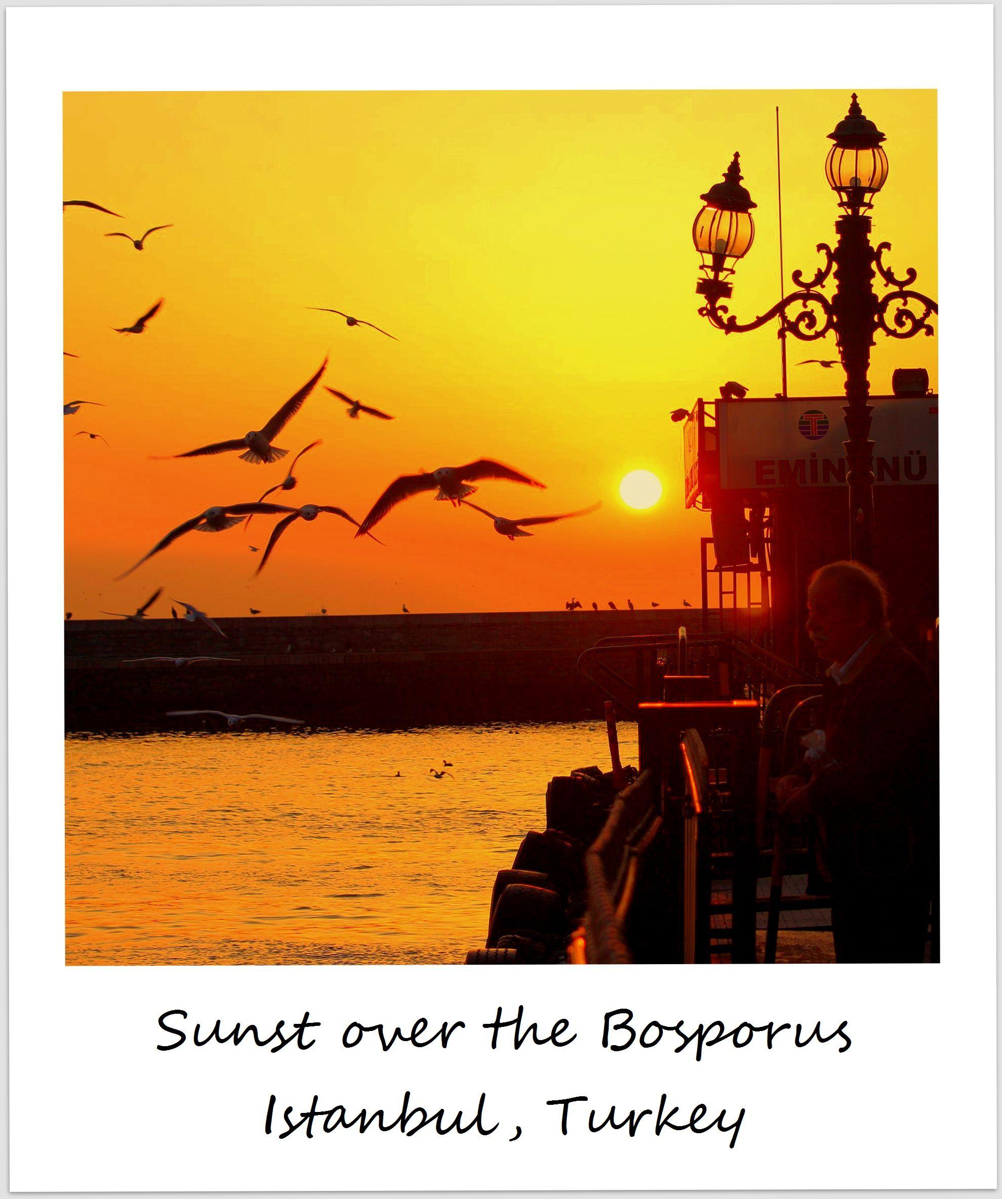 polaroid turkey istanbul bosporus sunset