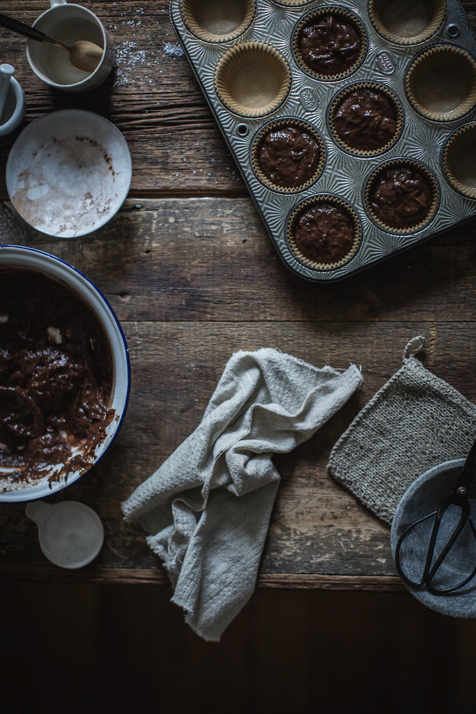 vegan & gluten free salted chocolate & lavender cupcakes with whipped honey coconut cream recipe