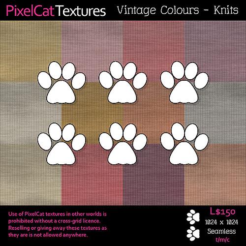 PixelCat Textures - Vintage Colours - Knits