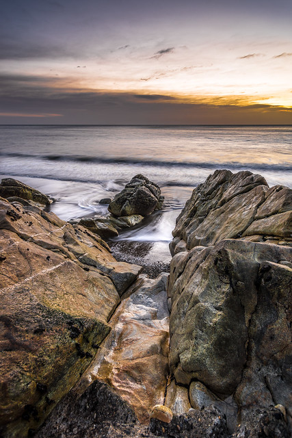 Sunrise in White Rock, Dalkey, Dublin, Ireland