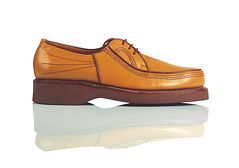 orange(0.0), textile(0.0), slip-on shoe(0.0), outdoor shoe(1.0), brown(1.0), footwear(1.0), shoe(1.0), leather(1.0), beige(1.0), tan(1.0),