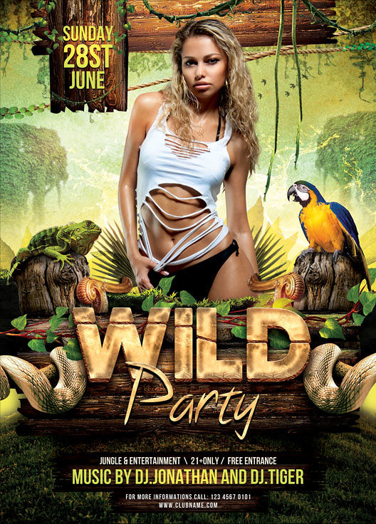 Jungle And Wild Flyer Template  You Can Download The Psd -1081