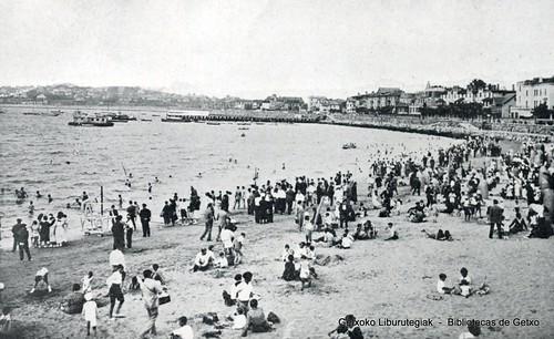 Sogas de seguridad en la Playa de Las Arenas (Getxo)