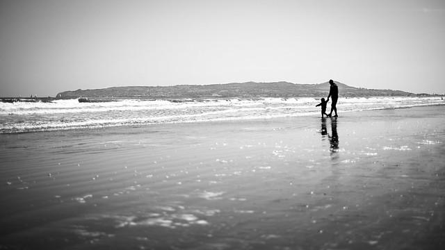 Fatherhood - Dublin, Ireland - Black and white street photography