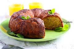 Zucchini bundt cake, with orange glaze