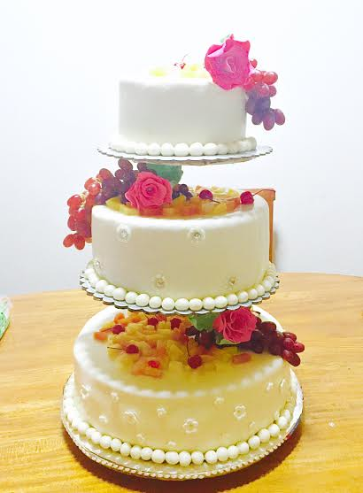 Fruitful Wedding Cake by Annnabelle R. Siddayao of Annabelle's Delicacies