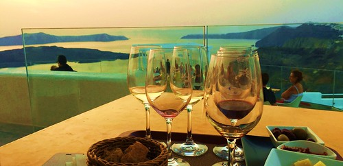 Cheers to You All ... from Santorini ♥