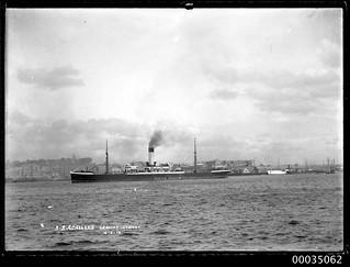 SS ACHILLES departing Sydney