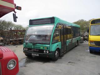Norfolk Green 610 YG52DHL on loan at Western Greyhound