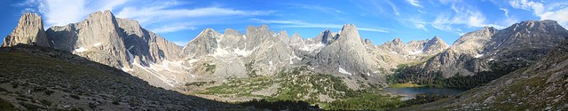 Cirque Of the Towers Panorama from Jackass Pass, Wind River Range, Wyoming