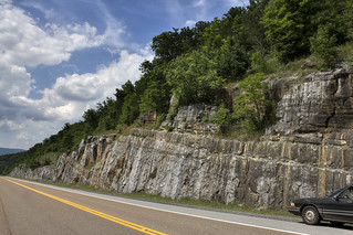 Rock cut on Highway 127, Monteagle limestone, Sequatie Co, TN
