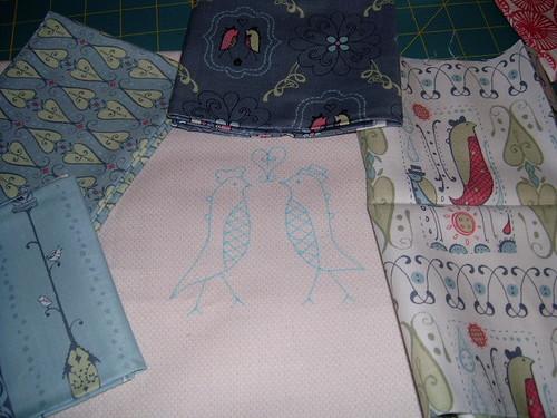 Bird Mini Quilt WIP