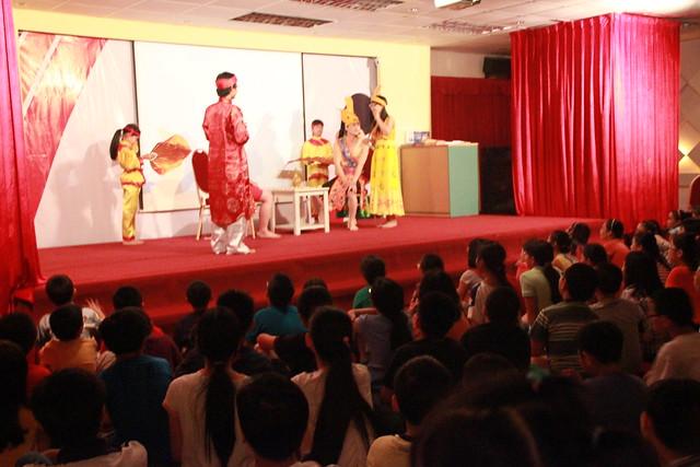 """Vở kịch """"Mỵ Châu tân truyện"""" lần đầu tiên trình diễn trên sân khấu của Alpha School"""