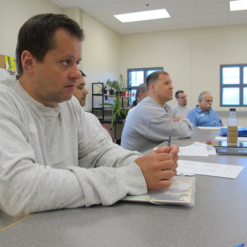 hospice class inside the Maine State Prison