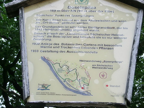 Die Boselspitze ist der südlichste Punkt des Spaargebirges bei Meissen 1398