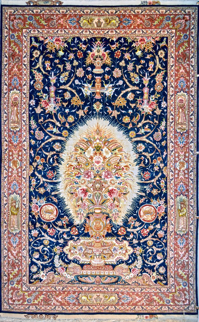 Salari Design Tabriz SIlk Persian Area Rug